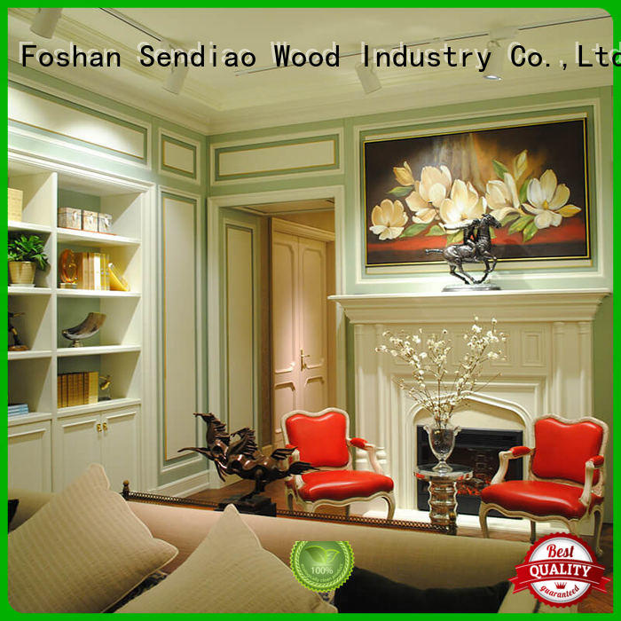 wood panelling for walls interior sdd03 Four Star Hotel Sendiao Furniture