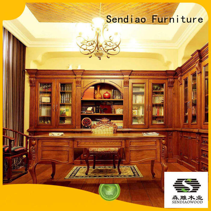 wooden bookcase threepiece Three-star Hotel Sendiao Furniture