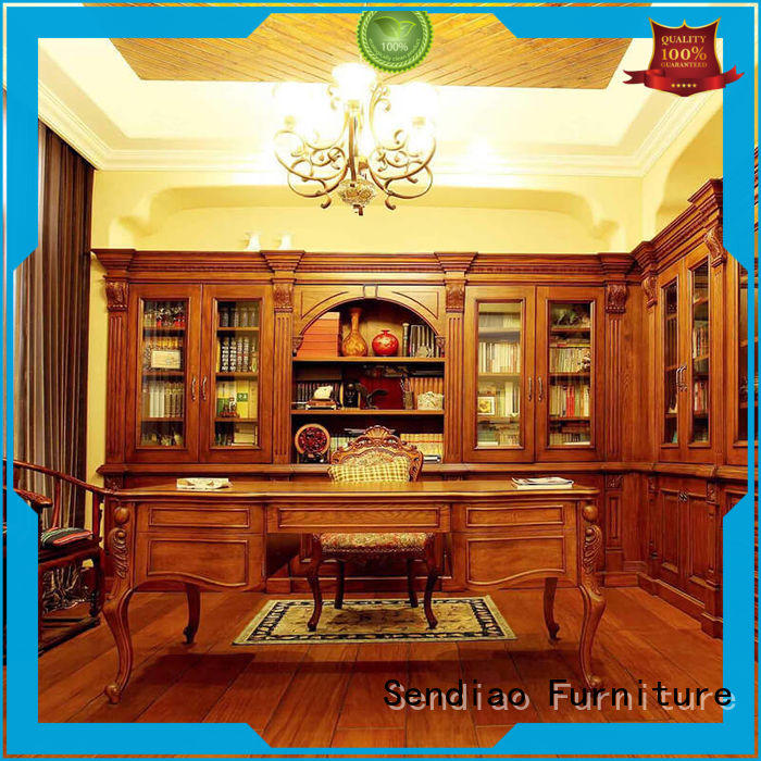 threepiece wooden bookcase elegance A living room Sendiao Furniture