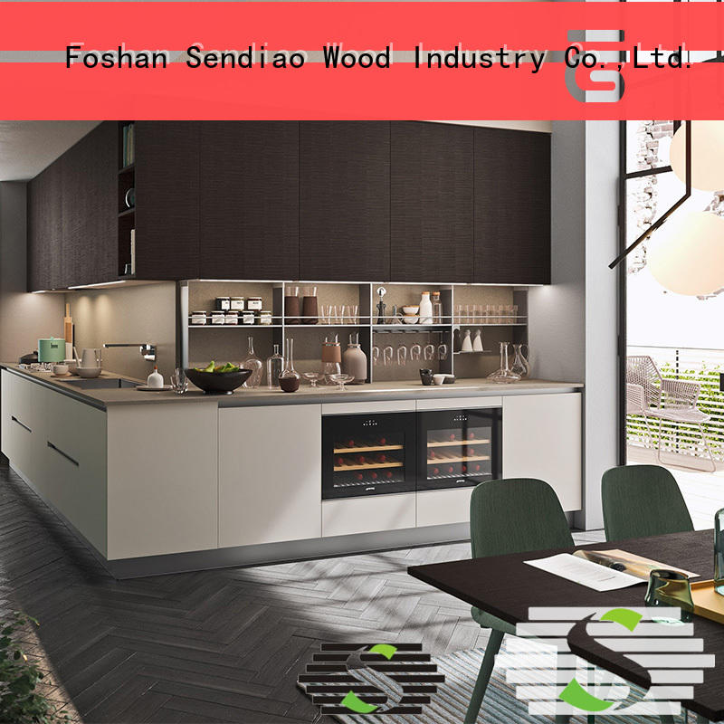 Sendiao Furniture Best real wood kitchen cabinets manufacturers a living room
