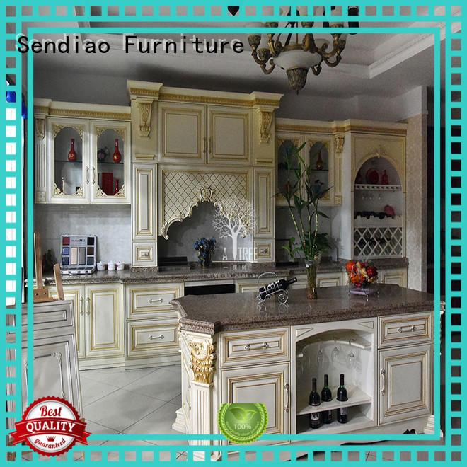 hardwood kitchen cabinets kitchen Four Star Hotel Sendiao Furniture