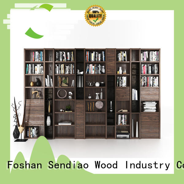 New wooden bookcase solid manufacturers study