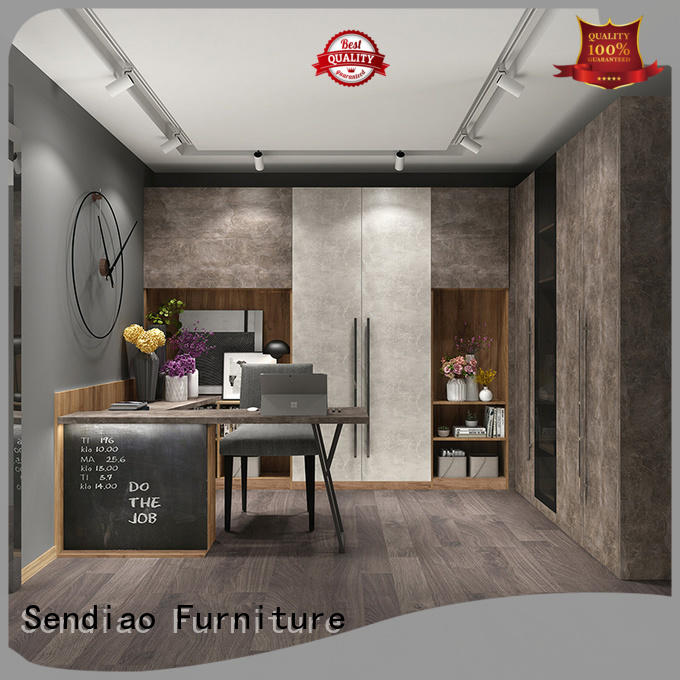 Sendiao Furniture Best solid wood bookcases manufacturers three-star hotel