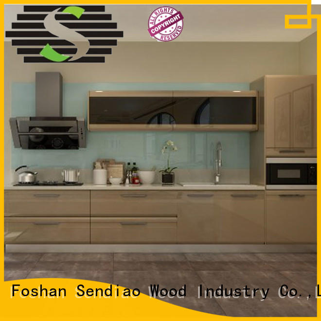sdk01 luxury kitchen cabinets American style Exhibition hall Sendiao Furniture