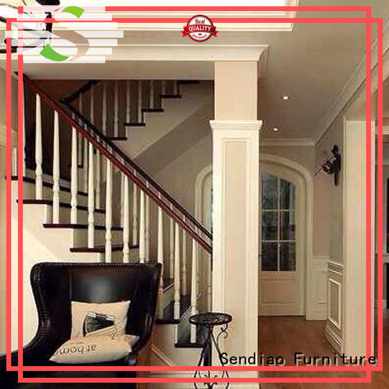 American style wooden staircase modular manufacturers a living room