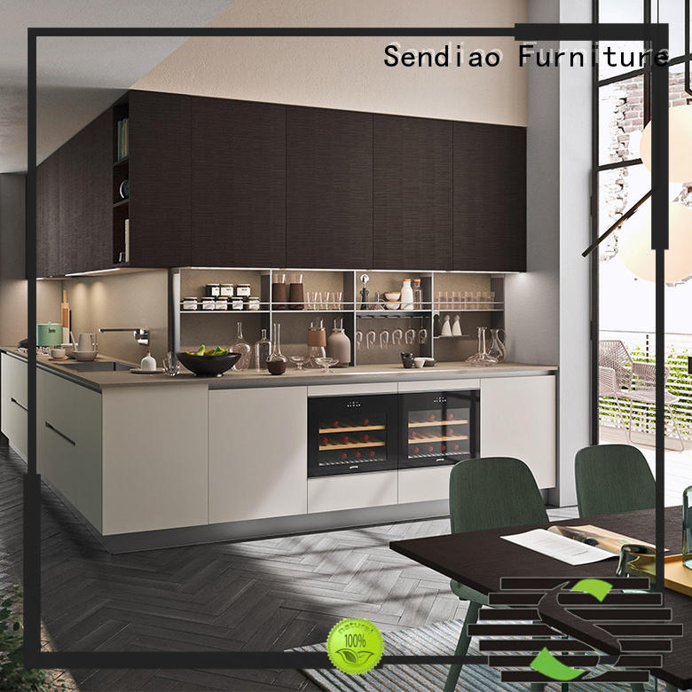 Sendiao Furniture New products contemporary kitchen cabinets low price Four Star Hotel