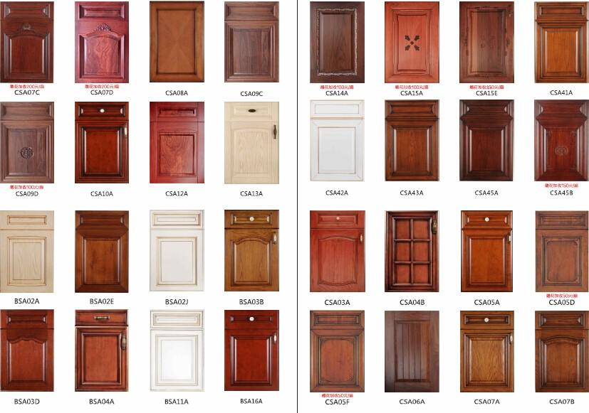 sdk07 hardwood kitchen cabinets American style Four Star Hotel Sendiao Furniture