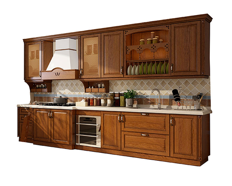 Sendiao Furniture low price real wood kitchen cabinets elegance Chateau-6