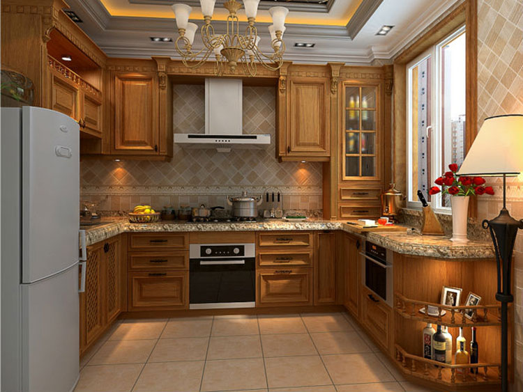 Sendiao Furniture Promotion custom wood kitchen cabinets The latest generation Chateau-4