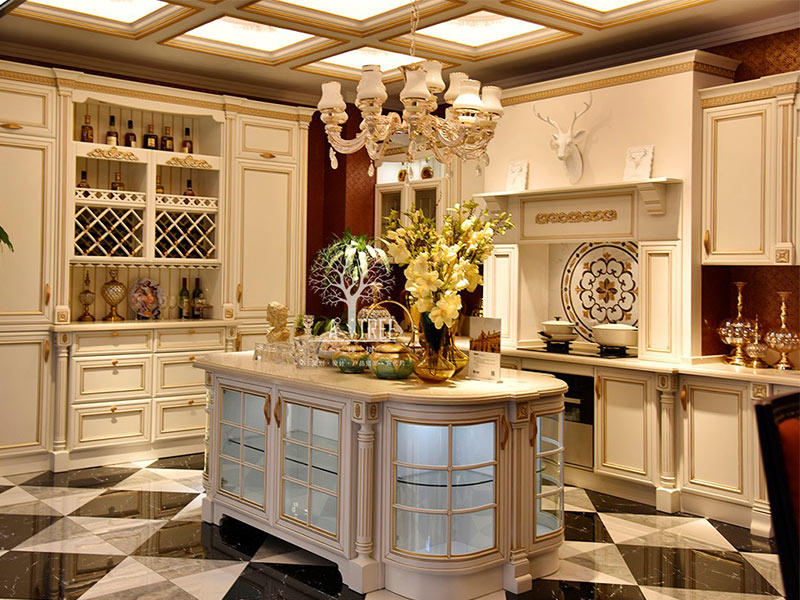 The latest generation custom kitchen cabinets low price Chateau
