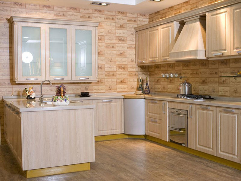 The latest generation solid wood kitchen cabinets Simplicity Bedroom