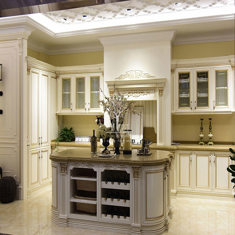 Latest custom wood kitchen cabinets white company three-star hotel