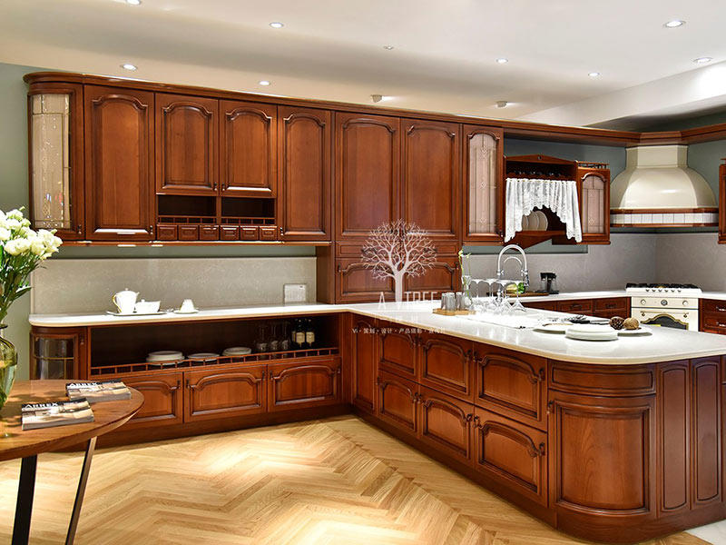 sdk07 solid wood kitchen cupboards sdk01 Exhibition hall Sendiao Furniture