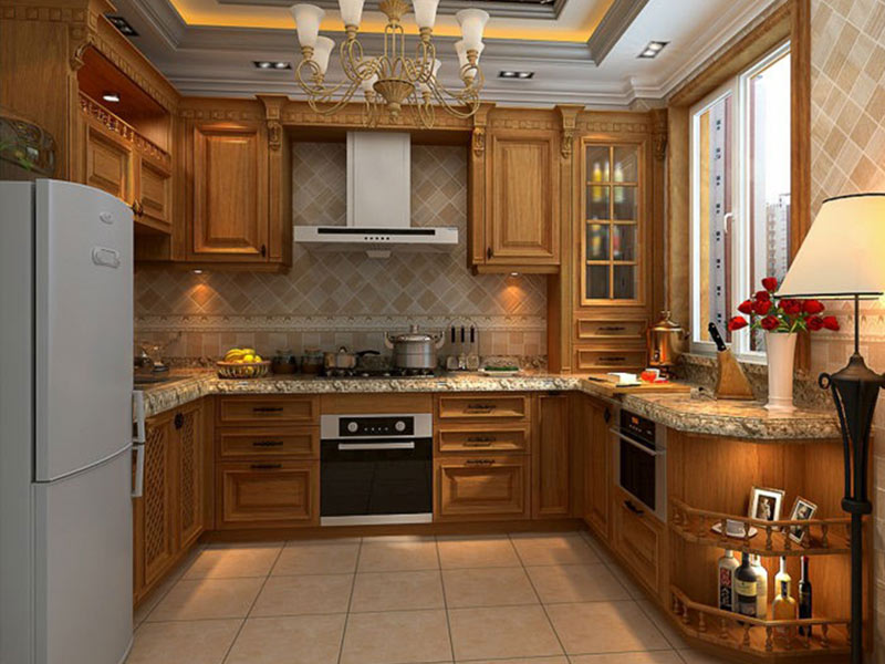 classical custom made kitchen cabinets elegance Exhibition hall-6