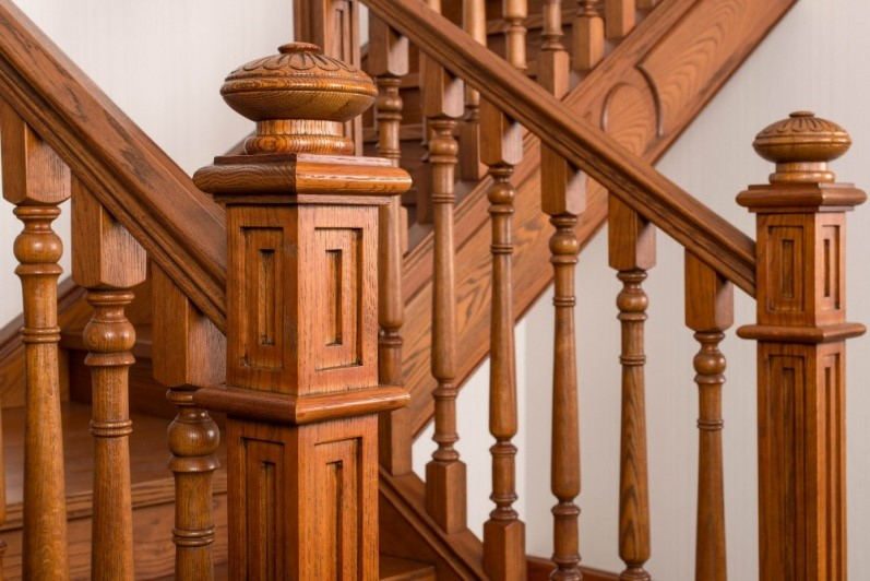 Sendiao Furniture spiral bespoke wooden staircases manufacturers three-star hotel-8