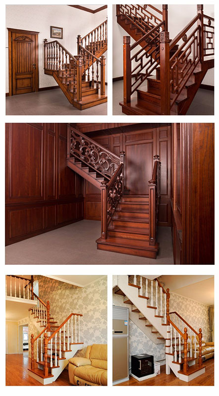 Sendiao Furniture spiral bespoke wooden staircases manufacturers three-star hotel-10