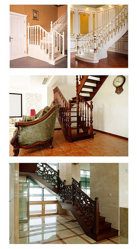 Sendiao Furniture spiral bespoke wooden staircases manufacturers three-star hotel-11