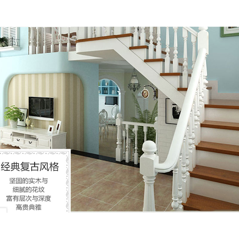 Sendiao Furniture New wooden spiral staircase for business three-star hotel-3