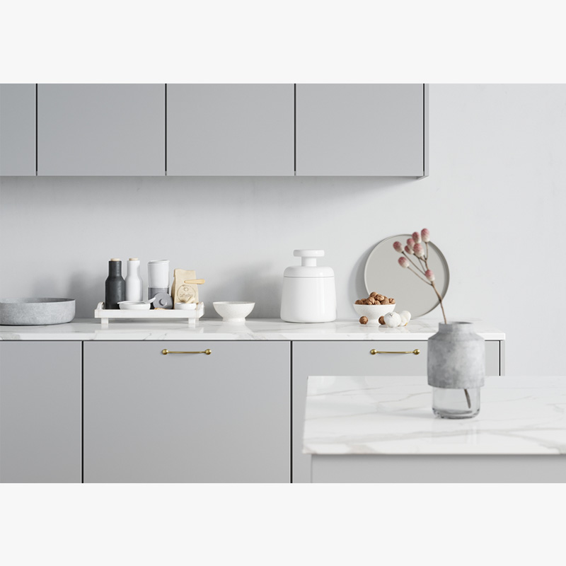 Latest solid wood kitchen cabinets quartz manufacturers a living room-3