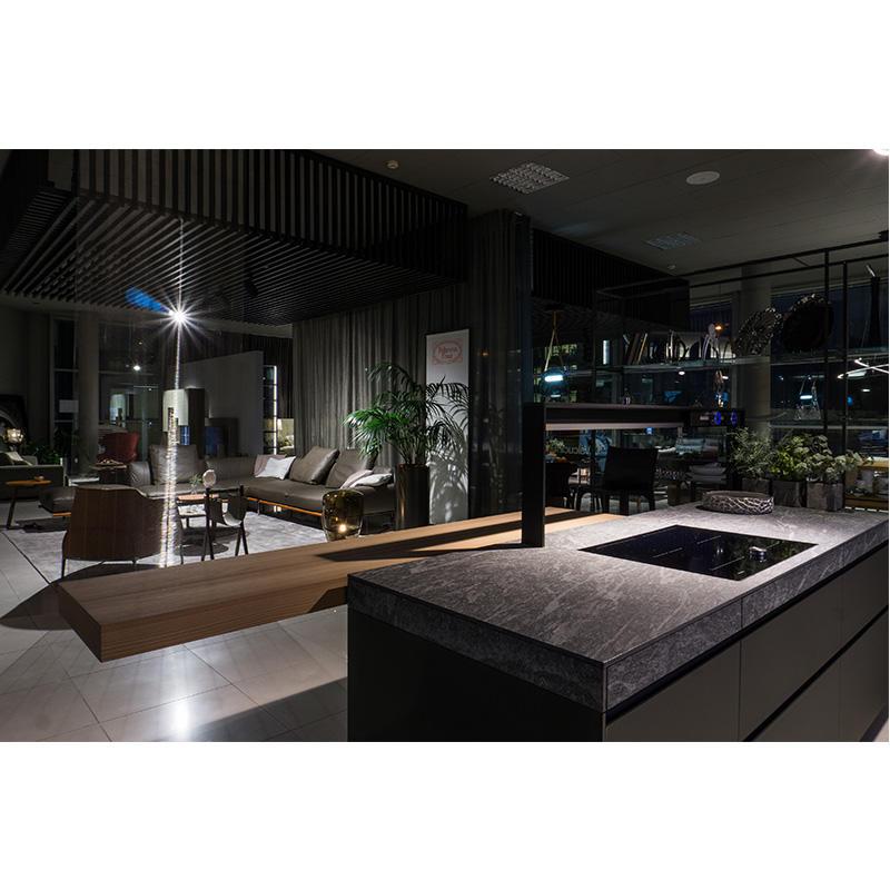 Vermonhouzz Flat Pack Customized Kitchen Design Shaker Lacquer Modern Kitchen Cabinet with Island
