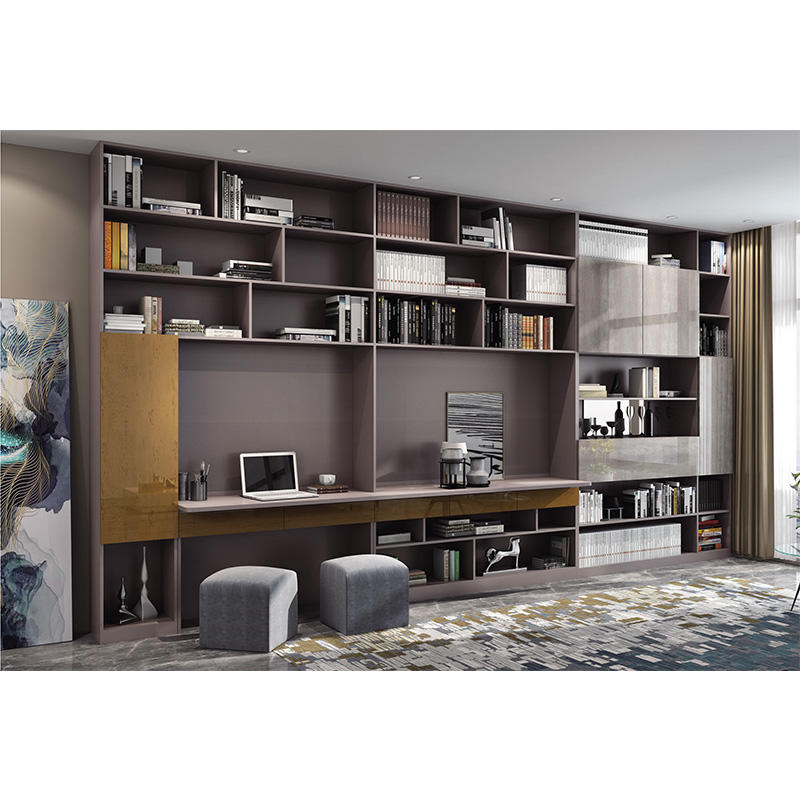 Luxury modern home decoration model wooden bookcases cabinets