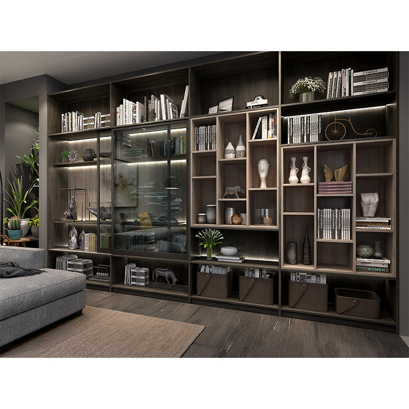 Bookcase with glass door models