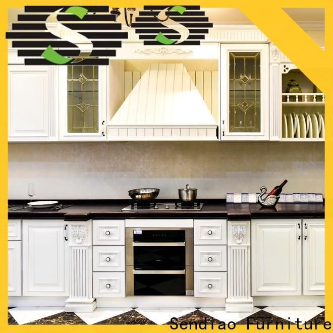Sendiao Furniture modern real wood kitchen cabinets Suppliers chateau