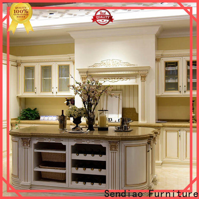 Custom solid wood kitchen cabinets sdk03 for business study