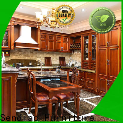Sendiao Furniture sdk03 solid wood kitchen cabinets for business three-star hotel
