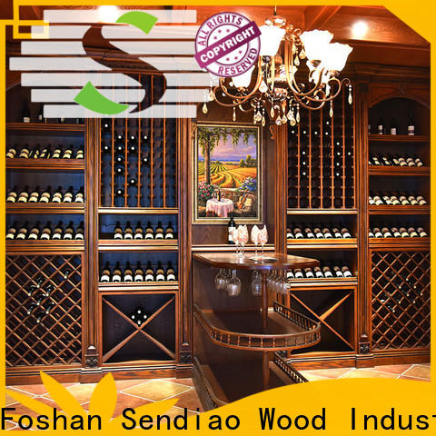 Sendiao Furniture solid wood wine rack cabinet manufacturers a living room