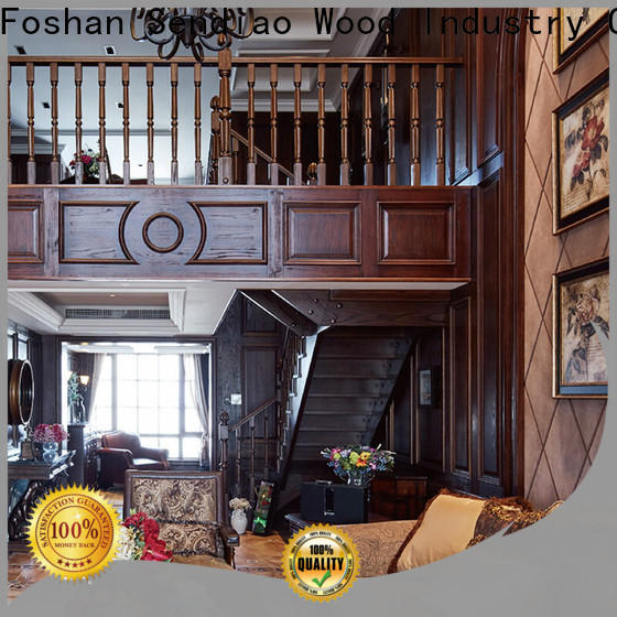 Sendiao Furniture New wooden spiral staircase Supply a living room