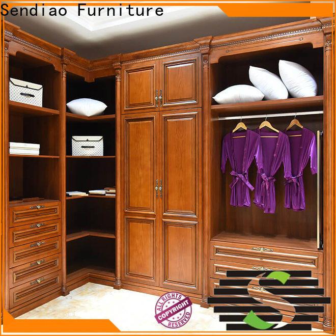 Sendiao Furniture luxury wood armoire wardrobe manufacturers four-star hotel