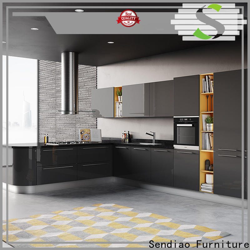 Sendiao Furniture wooden wood kitchen cabinets manufacturers exhibition hall