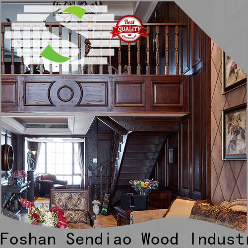 Sendiao Furniture Latest wooden spiral staircase company four-star hotel