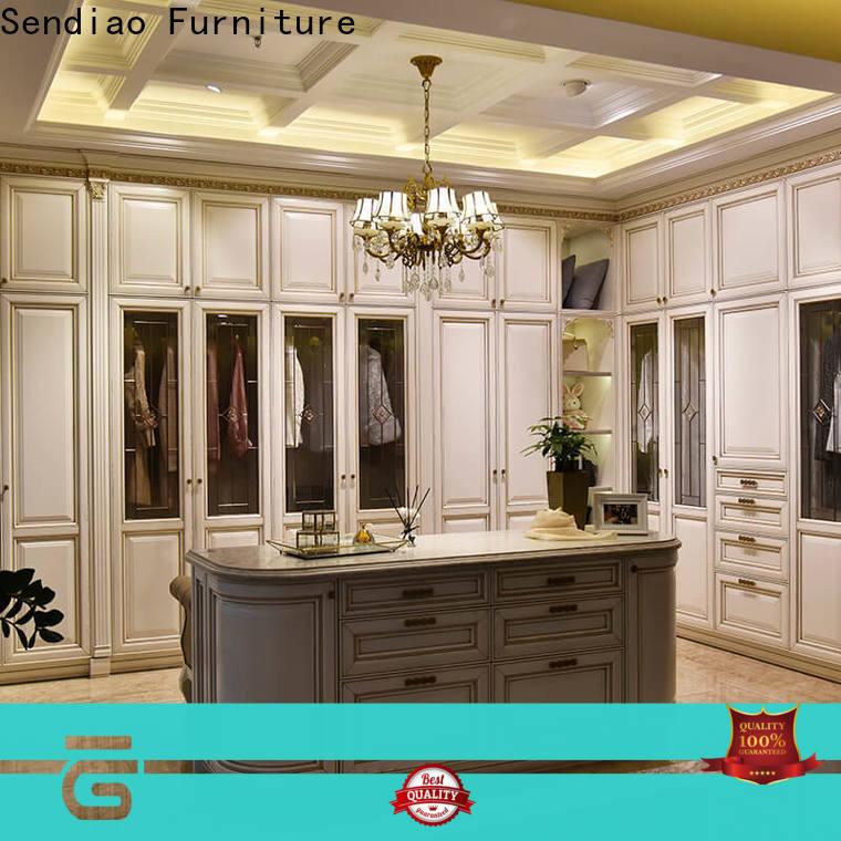 Sendiao Furniture modular wooden clothes wardrobe manufacturers chateau