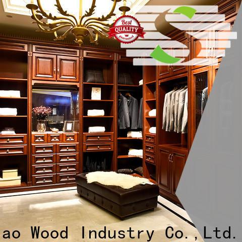 Latest wooden wardrobe wood Supply exhibition hall