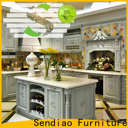 Sendiao Furniture fashion solid wood kitchen cupboards Supply a living room