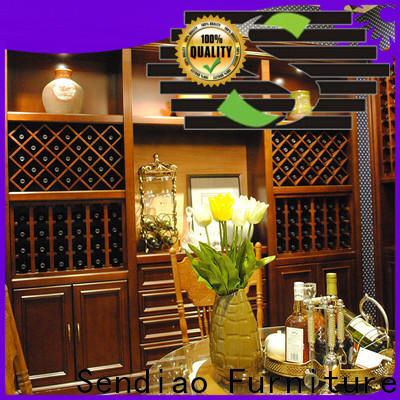 Sendiao Furniture Top solid wood wine cabinet factory four-star hotel