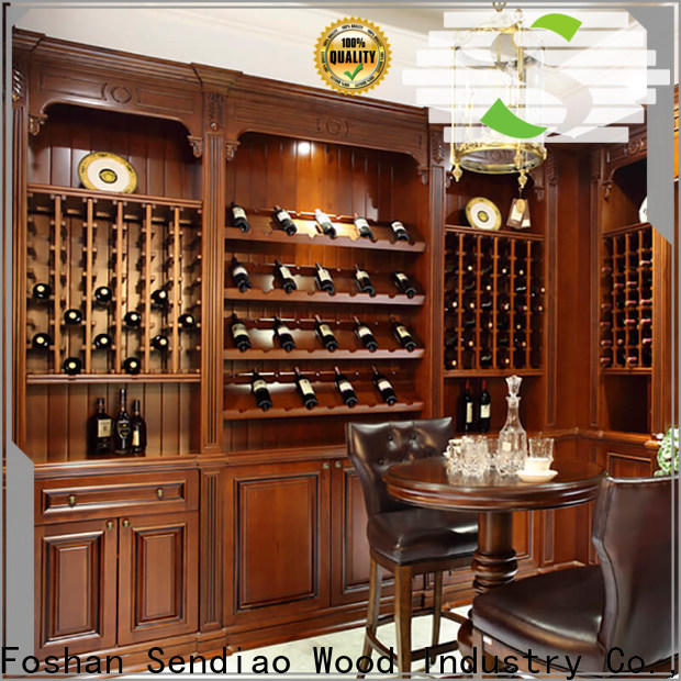 Custom wine rack cabinet red Suppliers four-star hotel
