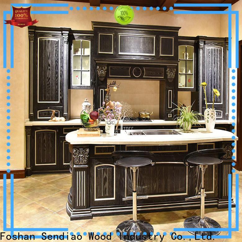 Sendiao Furniture sdk01 hardwood kitchen cabinets for business three-star hotel