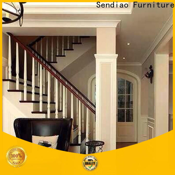 Sendiao Furniture spiral bespoke wooden staircases factory a living room