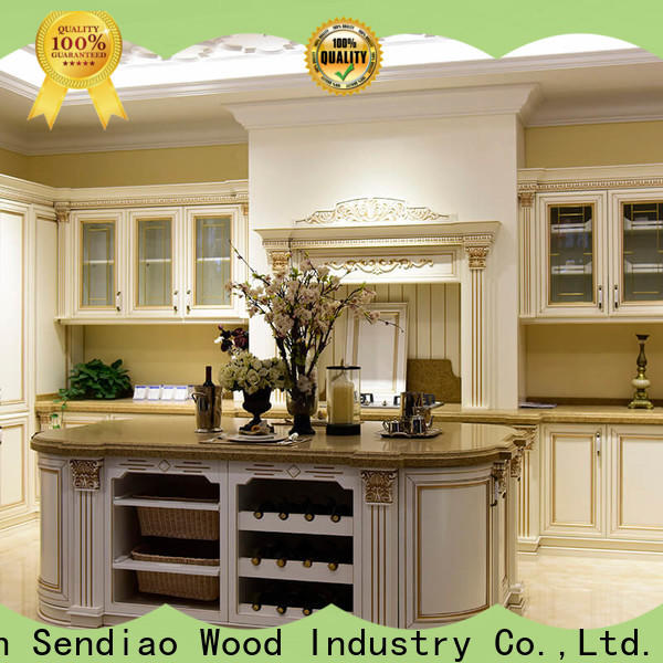 Sendiao Furniture sdk04 real wood kitchen cabinets factory a living room