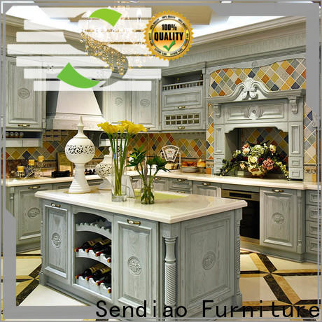 Wholesale custom wood kitchen cabinets quartz for business three-star hotel