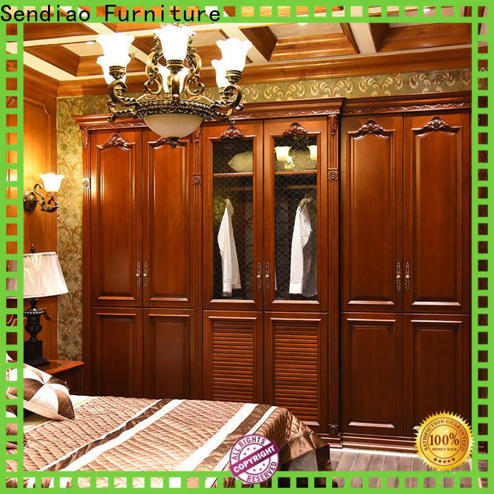 Custom wood wardrobe cabinet modular Supply four-star hotel