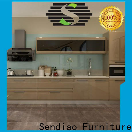Sendiao Furniture Custom real wood kitchen cabinets Supply four-star hotel