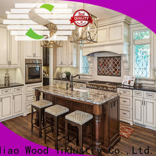 New solid wood kitchen cabinets sdk04 Suppliers exhibition hall