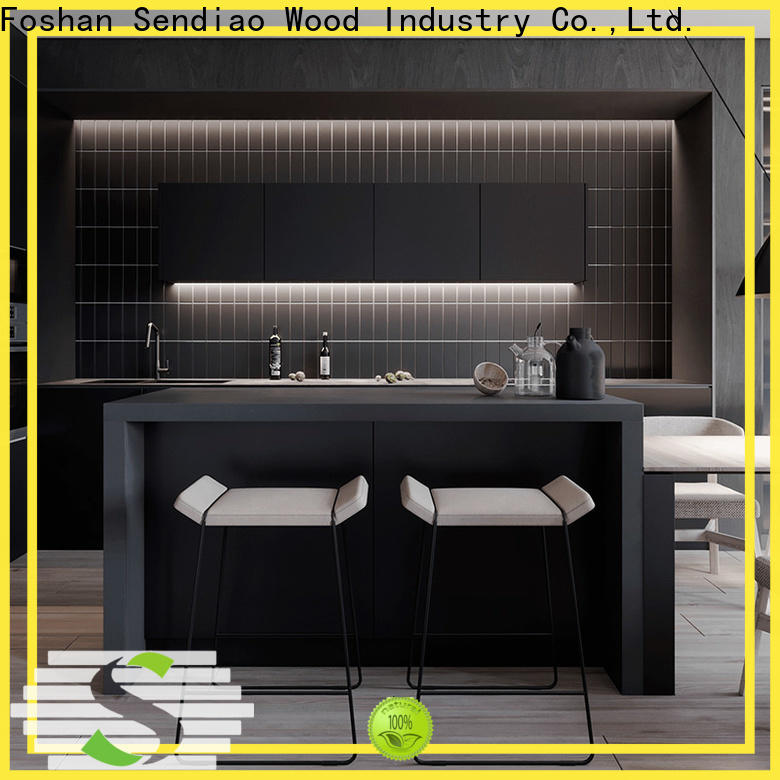 Sendiao Furniture sdk08 real wood kitchen cabinets Supply four-star hotel