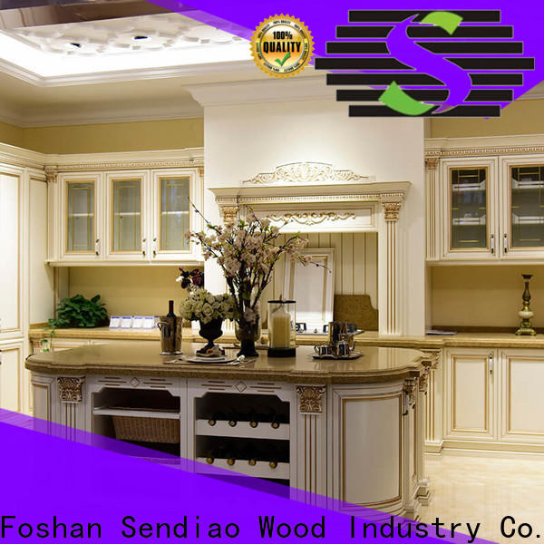 Sendiao Furniture cabinets custom wood kitchen cabinets for business three-star hotel