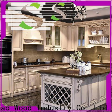 Wholesale solid wood kitchen cupboards kitchen Suppliers exhibition hall