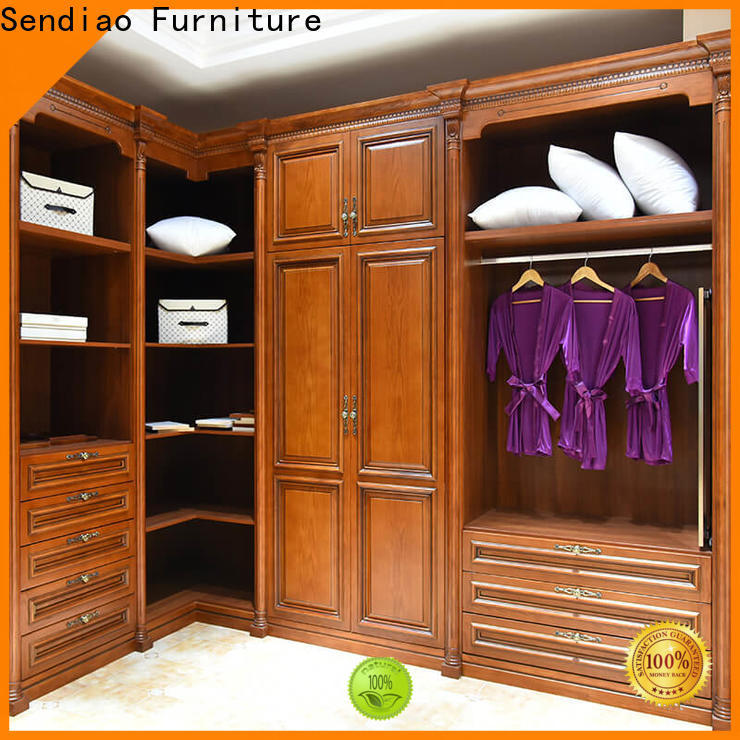 Sendiao Furniture bedroom wooden clothes wardrobe Suppliers four-star hotel